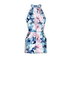 M7366 | McCall's Patterns Misses' Pleated Surplice or Plunging-Neckline Rompers, Jumpsuits and Belt