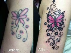Butterfly tattoo coverup / touch up cover-up tattoo ideas та Piercing Tattoo, Faded Tattoo, Snake Tattoo, Piercings, Wrist Tattoo Cover Up, Butterfly Tattoo Cover Up, Butterfly Tattoo On Shoulder, Butterfly Tattoos, Butterflies