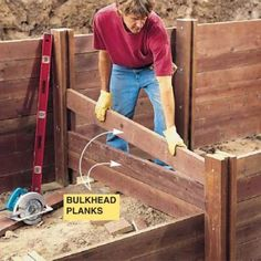 How to Build a Treated Wood Retaining
