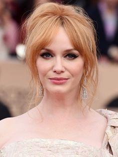 SAG Awards 2016: The Best Beauty Looks of the Night | People - Christina Hendricks' winged eyeliner and wispy updo