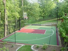 New Basket Ball Court Design Photo Galleries 32 Ideas Backyard Sports, Backyard Basketball, Outdoor Basketball Court, Cedar Homes, Backyard Playground, Outdoor Fun, Garden Planning, Landscape Architecture, Outdoor Living