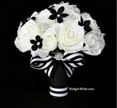 54 best Black & white bouquet images on Pinterest | Wedding bouquets ...