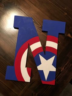 40 Exclusive Guidelines For Wood Letter Crafts, Diy Letters, Painted Letters, Wooden Letters, Captain America Party, Captain America Birthday, Avengers Room, Avengers Birthday, Boys Superhero Bedroom
