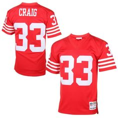 Roger Craig San Francisco 49ers Mitchell   Ness Replica Retired Player  Jersey – Cardinal Nfl Jerseys 8eabe0028
