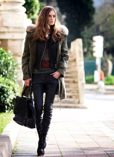 Leather Pants #newcollection #alex2578923 #LeatherPants #Leather #Pants #clothestop #nicepants  www.2dayslook.com