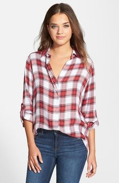 Sam Edelman Zip Back Plaid Shirt (Nordstrom Exclusive) available at #Nordstrom