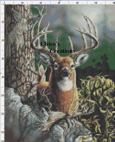 Woodland Deer Cross Stitch Pattern