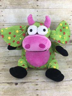 "Dan Dee Collectors Choice Green Polka Dot Monster Stuffed Plush 15"" Stuffed   eBay"