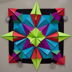 Arte con la señora Nguyen: Radial de papel Alivio Esculturas (5º): Parte 500000