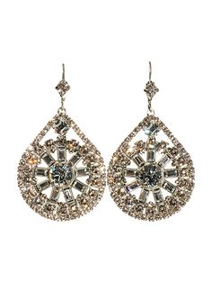 Glam Crystal Baguette Teardrop Earring - Bridal Collection in Snow Bunny by Sorrelli