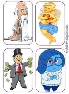 Los Niños: ΤΟ ΝΗΣΙ ΤΩΝ ΣΥΝΑΙΣΘΗΜΑΤΩΝ με κάρτες για ΚΟΥΚΛΟΘΕΑΤ... Preschool Christmas, Feelings And Emotions, Comics, Children, Boys, Fictional Characters, Young Children, Baby Boys, Kids