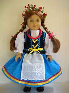 Fits-18-American-Girl-doll-Poland-Polish-folk-dress-clothes-O-COSTUME-ONLY  I sell on eBay at http://stores.ebay.com/Nanis-Niche . If you don't see what you are looking for, please contact me through eBay. I have no affiliation with American Girl / Pleasant Company, or any doll manufacturer.