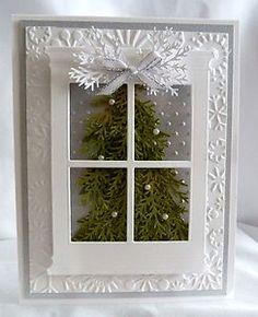 Stampin-Up-Handmade-Silver-Window-Christmas-Tree-Card-Kit
