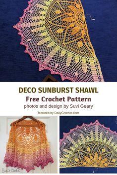 Crochet shawl 760052874597537503 - Stunning Lightweight Summer Shawl Free Crochet Pattern – Knit And Crochet Daily Source by Crochet Prayer Shawls, One Skein Crochet, Crochet Shawl Free, Crochet Shawls And Wraps, Crochet Scarves, Crochet Stitch, Crochet Summer, Crochet Crafts, Crochet Projects