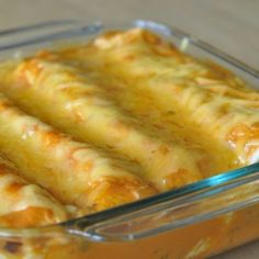 The key to these enchiladas is the sauce - quick and easy with only two ingredients!