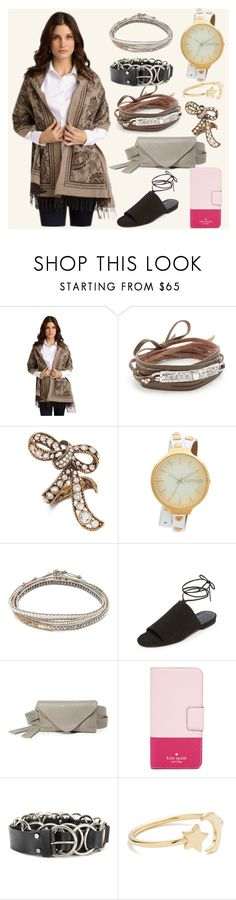 """""""Feel the fashion"""" by camry-brynn ❤ liked on Polyvore featuring Brooks Brothers, Chan Luu, Marc Jacobs, RumbaTime, Vince, Erin Dana, Kate Spade, McQ by Alexander McQueen and Ariel Gordon"""