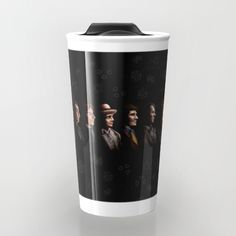 All Doctor Who Regeneration TRAVEL MUG #TravelMug #digital #drawing #ink #pen #colored #pencil #illustration #figurative #pattern #doctorwho #christmas #christmasgift #davidtennant #10thdoctor #tardisdoctorwho #tardis #thedoctor #12thdoctor