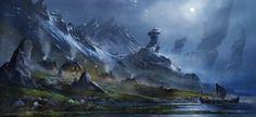Medevial Land 01, Pascal Casolari on ArtStation at https://www.artstation.com/artwork/xBxkY