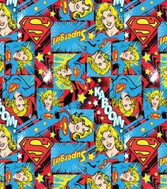DC Comics Supergirl Girl Power Cotton Fabric
