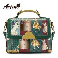 Barato Grátis frete Artmi2015 primavera bolsa do vintage das mulheres jogo corante bolsa de moda saco do mensageiro grande bolsa feminina, Compro Qualidade Bolsas Atravessadas diretamente de fornecedores da China:  Detalhes do produto