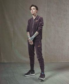 Force is Female Celebrates Ruby Rose's Relentless Drive - Nike News Androgynous Fashion, Tomboy Fashion, Tomboy Style, Girl Fashion, Ruby Rose Style, Baskets Nike, Tomboy Outfits, Girl Outfits, Orange Is The New Black