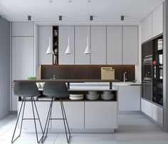 Modern apartment kitchen design 659 best kitchen inspirations images on pin Small Modern Kitchens, Luxury Kitchens, Modern Kitchen Design, Interior Design Kitchen, Cool Kitchens, Kitchen Designs, Modern Design, Ikea Kitchens, Kitchen Layouts