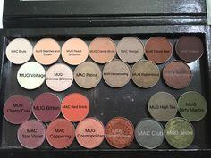 Z Palette with MAC and MUG shadows