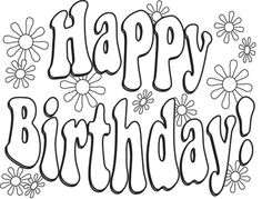 Birthday Coloring Pages | English for kids | Pinterest | Worksheets ...