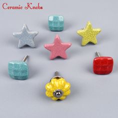 Different design and colour of designer ceramic knob available on our website at discounted prices. Ceramic Knobs, Stud Earrings, Ceramics, Colour, Website, Design, Ceramica, Color, Pottery