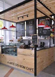 Commercial Architecture Design: Why Invest and What to Consider? Learn more about this cafeteria project and meet others! Cafe Shop Design, Kiosk Design, Cafe Interior Design, Bistro Design, Restaurant Design, Restaurant Bar, Cafeteria Design, Small Coffee Shop, Coffee Shops