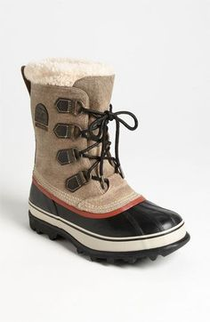 Sorel 'Caribou Reserve' Snow Boot. (Want! They'd be perfect for winter!)