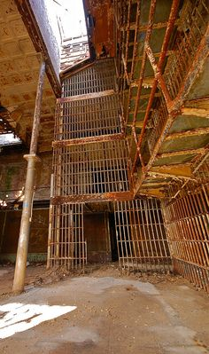 Abandoned jail--can you hear the doors creaking or the inmates screaming?