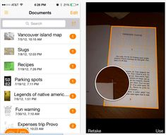 Use your iPhone or iPad as a pocket scanner with Genius Scan. | 34 Ingenious Ways To De-Clutter Your Entire Life