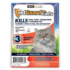 vetGuard for Cats All Weights 3 month supply by VETIQ Pet Supplies >>> You can find out more details at the link of the image.