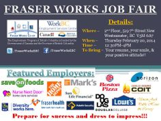 FRASER WORKS' MULTI-EMPLOYER JOB FAIR!!! New employers added!