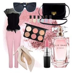 """Rosie the rose"" by marinovalix on Polyvore featuring moda, NARS Cosmetics, Topshop, Louis Vuitton, Elie Saab, Deborah Lippmann, MAC Cosmetics e Linda Farrow"