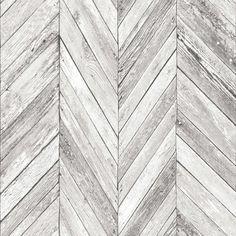 Grey White Herringbone Wood Parquet Panel Effect Wallpaper Metro Tile Country Grey Brick Effect Wallpaper, Wood Plank Wallpaper, Diy Wallpaper, Wood Parquet, Wood Planks, Chevron Gris, Edwardian House, Embossed Wallpaper, 3d Home