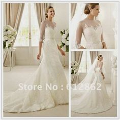 Nice mermaid wedding dresses with 3/4 sleeves 2017-2018 Check more at http://24myfashion.com/2016/mermaid-wedding-dresses-with-34-sleeves-2017-2018/