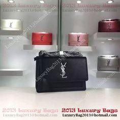 204cb8aff3bc Yves Saint Laurent Cross-body Shoulder Bag Y8816 Black. YSL Bags Sale