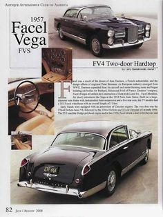 Facel-Vega - FV4 Sport Coupé Typhoon-USA (FVS Séries 4) - 1957-1958 - pré-HK 500 ✏✏✏✏✏✏✏✏✏✏✏✏✏✏✏✏ IDEE CADEAU ☞ http://gabyfeeriefr.tumblr.com/archive ..................................................... CUTE GIFT IDEA ☞ frenchvintagejewelryen.tumblr.com ✏✏✏✏✏✏✏✏✏✏✏✏✏✏✏✏