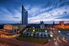 View from Radisson Blu Leipzig