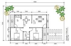 gambar dari denah desain rumah type 36 1223 home