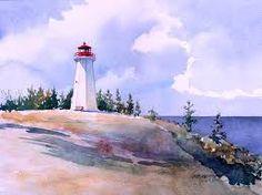 Resultado de imagen de watercolor lighthouse