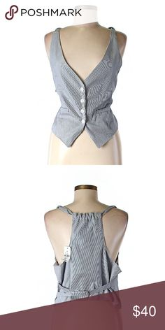 Chandelier Tuxedo Vest So trendy with its striped print! 100% Cotton Chandelier Other