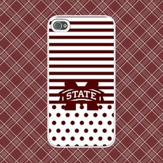 Mississippi State Bulldogs Custom Cell Phone Case (02) - SEC College Team Sports MS State Collegiate MSU Custom Cover by NouveauGypsyDesigns, $10.99