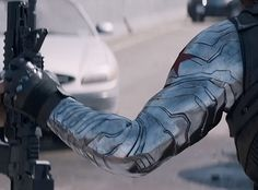 bucky metal arm - just how awesome this is kind of makes me wish i had a metal arm. Even though I would have had to go through all the winter soldier stuff... Nah. worth it.