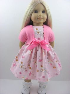 Hello Kitty Pink Doll Dress for the American Girl Doll