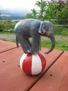 Cake TopperTable Topper Baby Circus Elephant by merrygifts on Etsy, $55.00