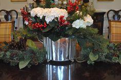 holiday, christma centerpiec, christma surpris, christma 2012, christma 53, christmas, christma time, enchant, silver planter