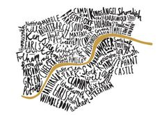 Etsy Wednesday: 10 Cool Typographic Maps #typography #london
